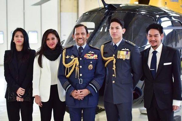 4 người con của quốc vương Brunei