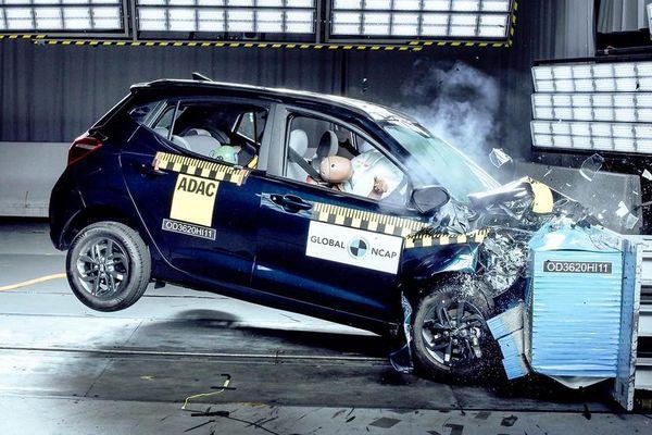 Hyundai Grand i10 chỉ đạt 2 sao về an toàn tại Ấn Độ
