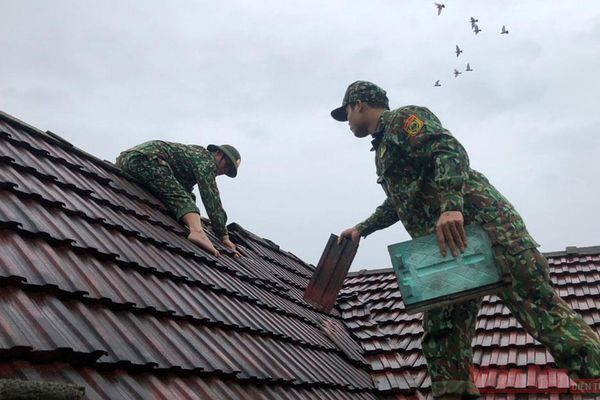 Bão lớn, nhưng không gây thiệt hại nặng ở Quảng Bình và các địa phương lân cận