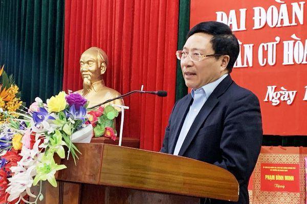 Đồng chí Phạm Bình Minh dự Ngày hội Đại đoàn kết toàn dân tộc tại Nam Định