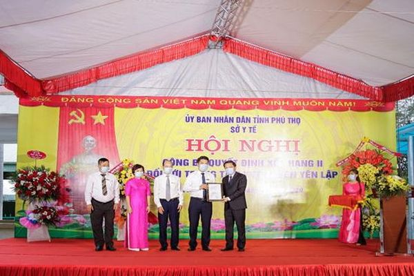 Phú Thọ: Công bố quyết định nâng hạng II Trung tâm Y tế huyện Yên Lập