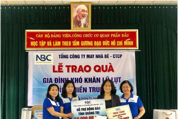 May Nhà Bè – CTCP ủng hộ gần 1.3 tỷ cho người dân Quảng Trị