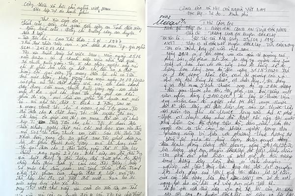 Người dân gửi thư cảm ơn CBCS Công an Đắk Nông