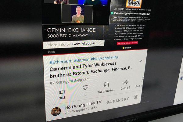 Kênh YouTube Hồ Quang Hiếu, Lý Hải bị hack để livestream tặng Bitcoin