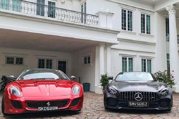 Ngắm siêu xe Ferrari và Mercedes đắt đỏ của đại gia Singapore