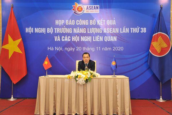 Họp báo thông báo kết quả Hội nghị Bộ trưởng năng lượng (AMEM 38) và hội nghị liên quan
