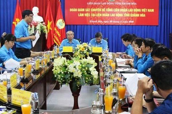 Khánh Hòa: Đẩy mạnh hoạt động chăm lo đoàn viên - lao động