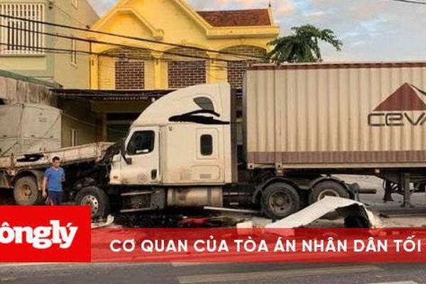 Container húc xe tải lao thẳng vào nhà dân lúc rạng sáng