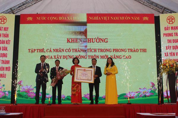 Xã Yên Viên đón Bằng công nhận danh hiệu Xã đạt chuẩn nông thôn mới nâng cao