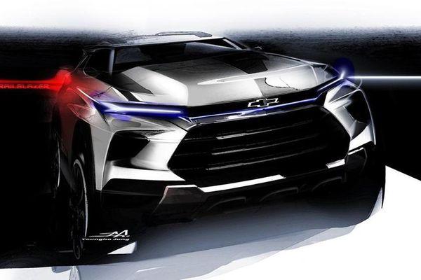 Chevrolet hé lộ bản phác thảo Trailblazer mới siêu ấn tượng
