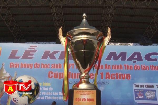 Tổ chức 'Giải bóng đá học sinh THPT Hà Nội - Báo An ninh Thủ đô lần thứ XX - 2020 Cúp NUMBER 1 ACTIVE'