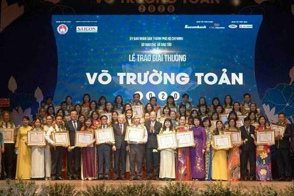 TP HCM: 50 nhà giáo tiêu biểu nhận giải thưởng Võ Trường Toản