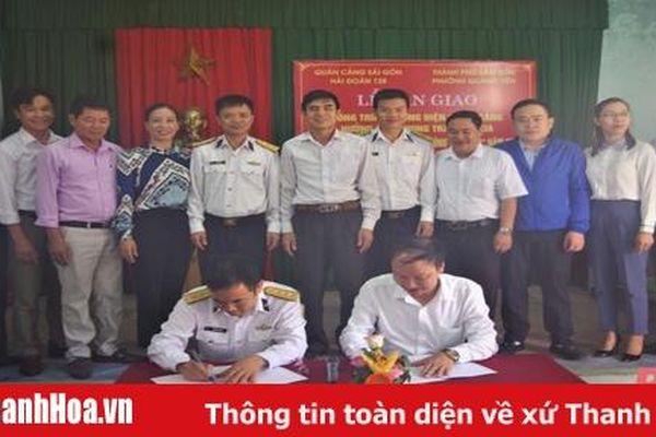 Hải đoàn 128, Quân cảng Sài Gòn bàn giao công trình NTM tại Thanh Hóa