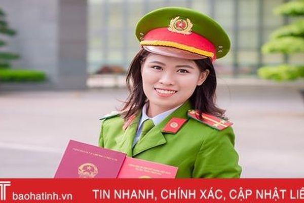 Nữ sinh Hà Tĩnh tốt nghiệp xuất sắc Học viện Cảnh sát nhân dân