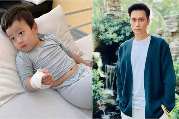 Việt Anh lo lắng vì nửa đêm phải đưa con đi bệnh viện
