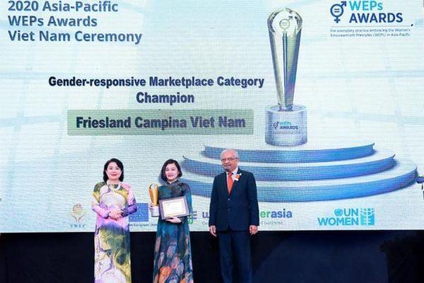 FrieslandCampina Việt Nam nhận Giải thưởng Nguyên tắc trao quyền cho Phụ nữ