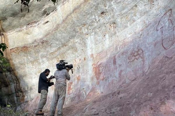 Phát hiện hàng chục nghìn bức tranh đá từ kỷ băng hà trong rừng Amazon