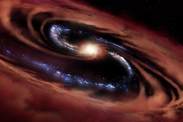 Thiên hà sinh sao để chống lại sức hút khủng khiếp của hố đen