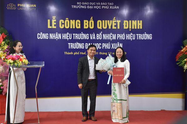 Đại học Phú Xuân có hiệu trưởng mới thay TS Đàm Quang Minh