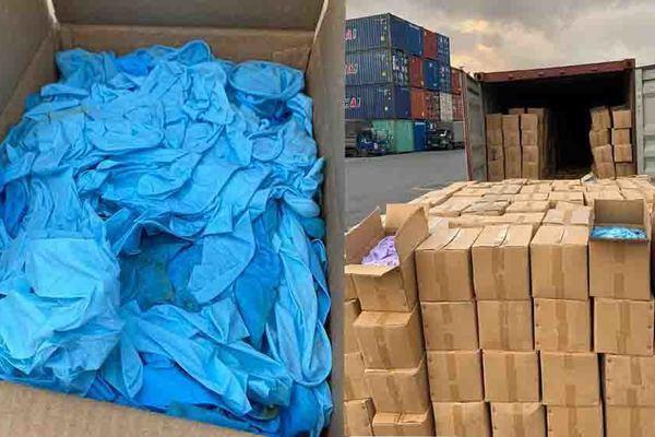 Điều tra việc nhập hàng chục tấn găng tay y tế Trung Quốc đã qua sử dụng