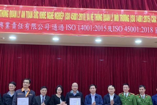 Formosa Hà Tĩnh đạt tiêu chuẩn quốc tế về hệ thống quản lý môi trường