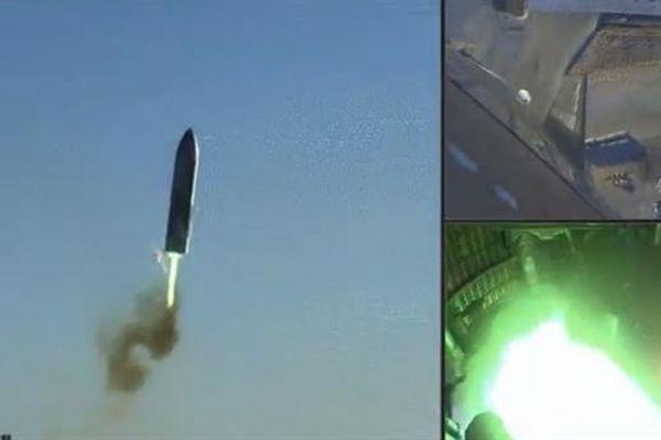 Hình ảnh tên lửa SpaceX nổ tung khi tiếp đất