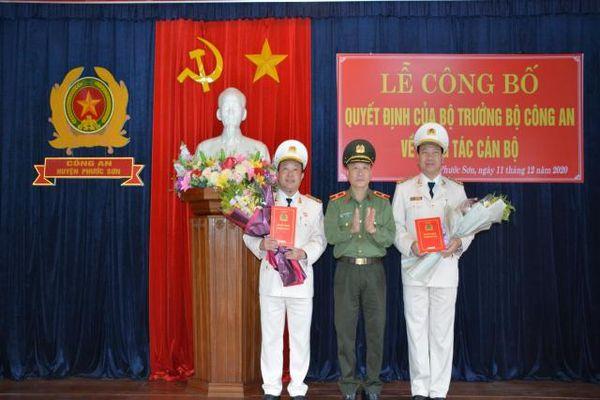 Công an Quảng Nam công bố quyết định bổ nhiệm về công tác cán bộ