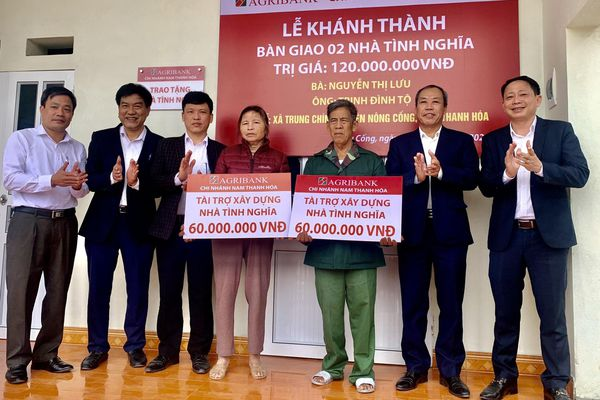 Thanh Hóa: Agribank hỗ trợ xây nhà cho hộ nghèo