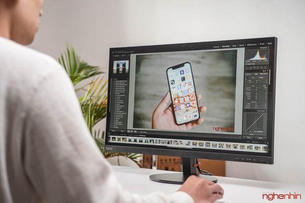 Đánh giá ThinkVision S27i-10: màn hình văn phòng, tối giản, dịu mắt