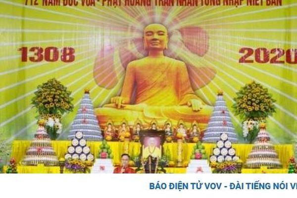 Đại lễ tưởng niệm 712 năm Đức Vua Phật hoàng Trần Nhân Tông nhập niết bàn