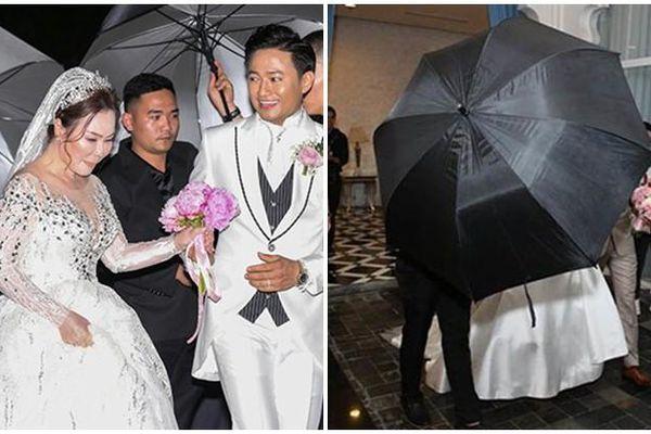 Đám cưới sao Việt: Thuê vệ sĩ, bung dù che kín mít!
