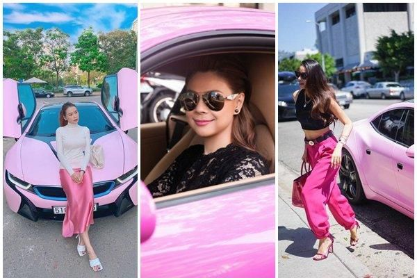 Điểm danh mỹ nhân Việt cuồng xế hộp màu hồng tiền tỷ