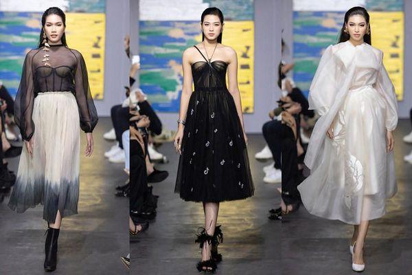 Hoa hậu Đỗ Thị Hà mở màn show thời trang với nhan sắc tựa nàng thơ, ai cũng phải xuýt xoa