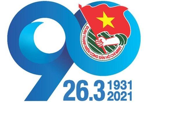 Logo tuyên truyền kỷ niệm 90 năm thành lập Đoàn