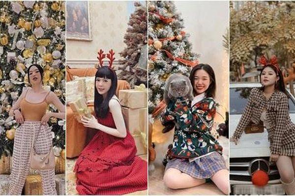 Hotgirl Việt đình đám khoe ảnh Giáng sinh đẹp lung linh, visual nào cũng 'lấp la lấp lánh'