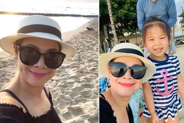 Ca sĩ Thanh Thảo đi du lịch Hawaii cùng gia đình, đăng toàn khoảnh khắc tự selfie vì chồng chụp ảnh không có tâm