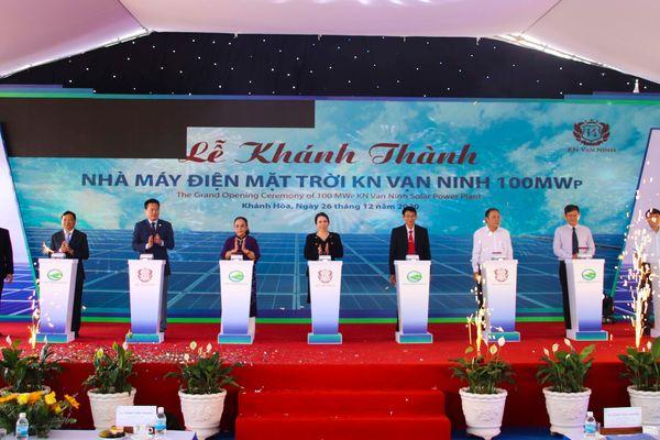 Khánh thành Nhà máy Điện mặt trời KN Vạn Ninh