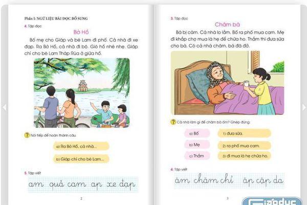 Sạn sách giáo khoa lớp 1 các trường đã dạy gần hết, in tài liệu làm gì