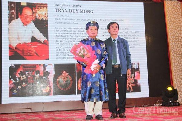 Thừa Thiên Huế: Tôn vinh nghệ nhân và trao giải thiết kế sản phẩm thủ công mỹ nghệ năm 2020