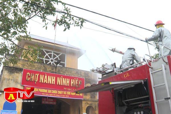 Diễn tập phương án chữa cháy, cứu nạn cứu hộ tại chợ Nành Ninh Hiệp