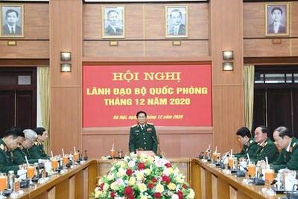 Đại tướng Ngô Xuân Lịch chủ trì Hội nghị Lãnh đạo Bộ Quốc phòng