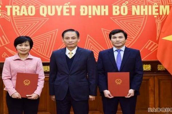 Tin bổ nhiệm nhân sự mới Ban Tuyên giáo Trung ương, Bộ Ngoại giao, Bộ Tài chính