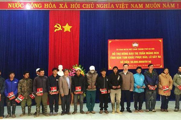 Hà Nội hỗ trợ 7 tỷ đồng cho tỉnh Kon Tum khắc phục thiệt hại do mưa lũ