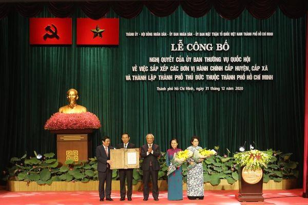 Thành phố Hồ Chí Minh: Công bố quyết định thành lập thành phố Thủ Đức