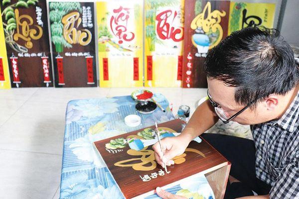 Hàng mỹ nghệ chào thị trường Tết