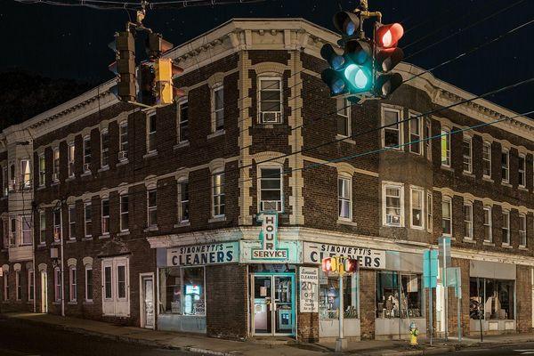 Không gian các thị trấn nhỏ nước Mỹ trong màn đêm
