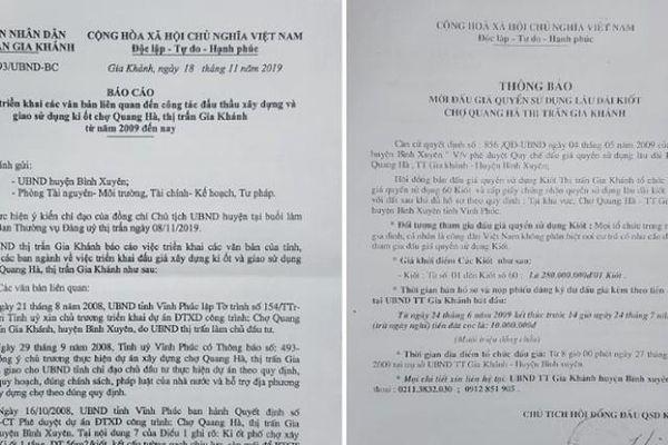 Vĩnh Phúc: UBND thị trấn Gia Khánh bán 'ki ốt giấy' – Dân mòn mỏi đợi chờ