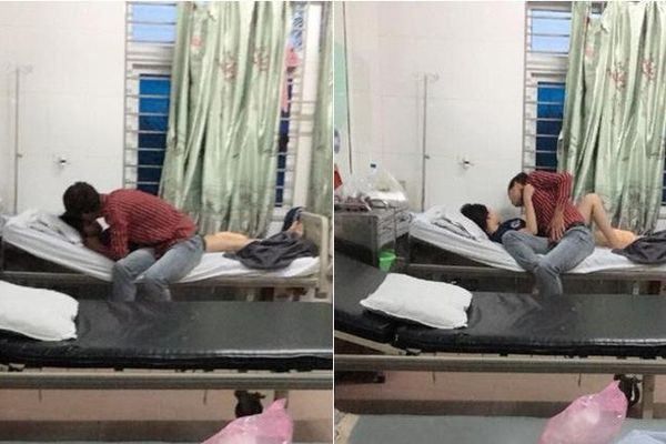 Đỏ mặt trước những màn âu yếm như ở chốn không người của các cặp đôi ngay tại bệnh viện