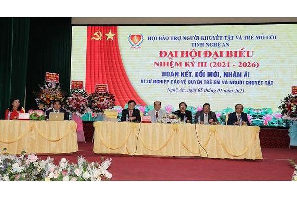 Hội bảo trợ người khuyết tật và trẻ mồ côi tỉnh Nghệ An tổ chức Đại hội