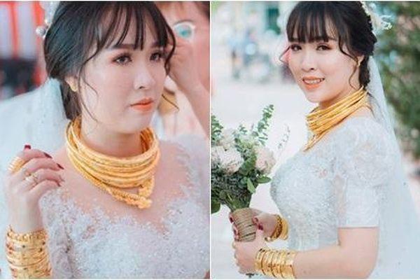 Cô dâu 'số hưởng' với 20 cây vàng đeo trĩu cổ, 'gánh' nặng vậy ai cũng nguyện ý lấy chồng